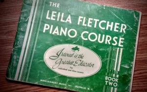 One of my well-worn music lesson books from the 1940s. [Photo by AAE]